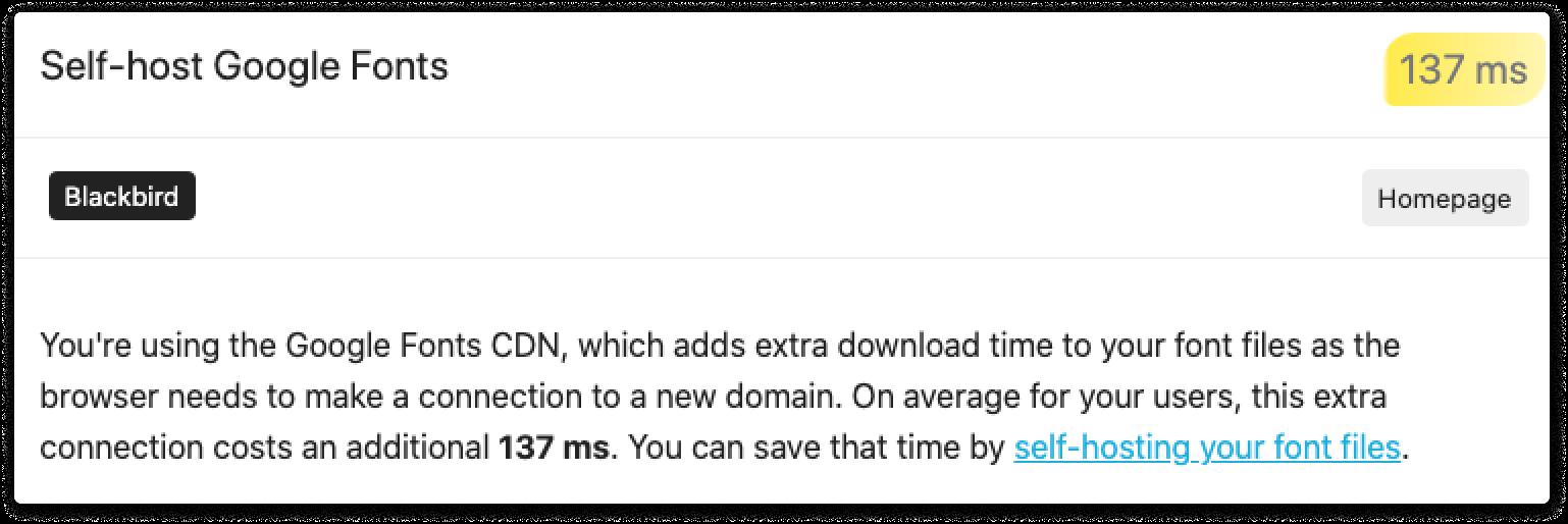 More realistic site speed estimates